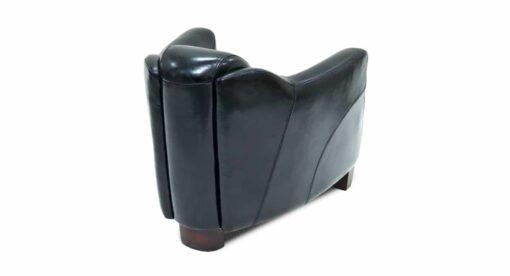 Clubsessel VEGAS, Leder schwarz : Ansicht von hinten