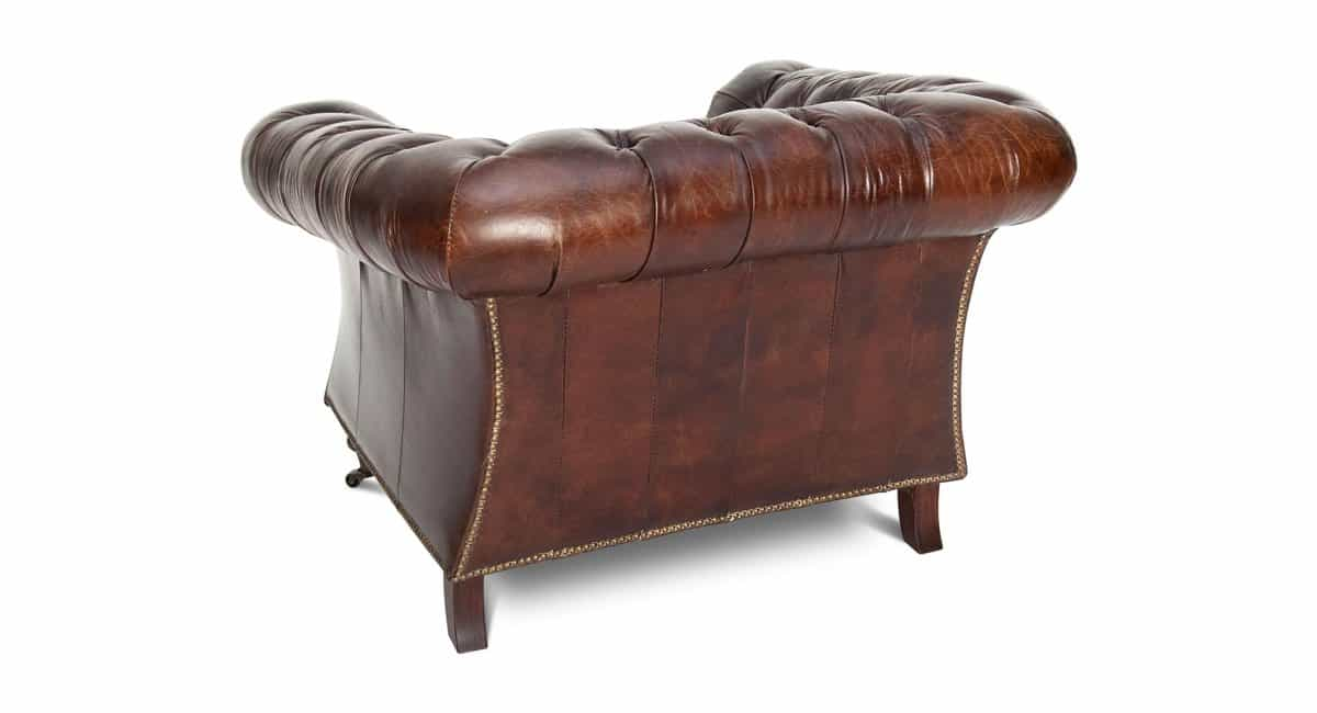Chesterfield Sessel BURLINGTON - Vintage Ledersessel