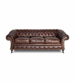 Chesterfield Sofa BURLINGTON – klassisches, äussersts bequemes Sofa im Chesterfield-Stil.