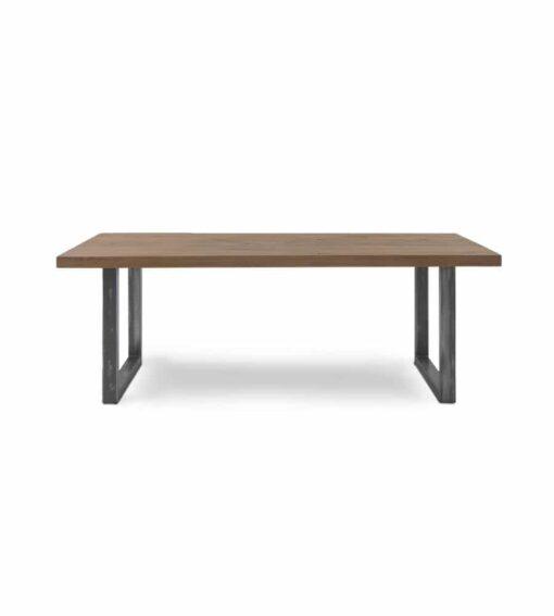 Esstisch CITY - massiver Holztisch aus Wildeiche und Stahl im Industrial-Chic