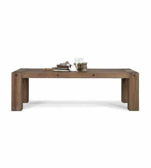 AXIS - Massivholztisch aus Wildeiche. Esstisch im Industrial Style der mit seine einfachen, klaren Linien besticht. 5 Farbvariationen.