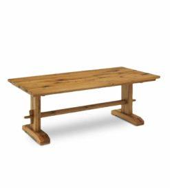 Esstisch THOR - rustikaler Holztisch im Landhausstil aus Wildeiche