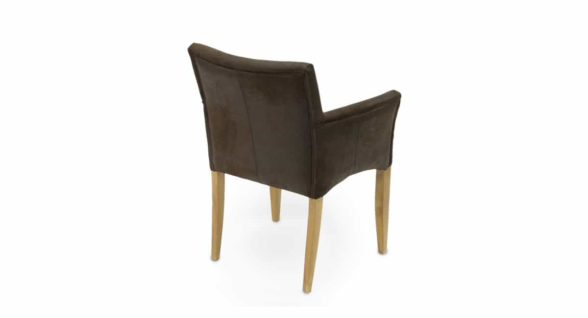 Stuhl CUBO - Esszimmerstuhl aus Holz und Kunstleder, Ansicht von hinten
