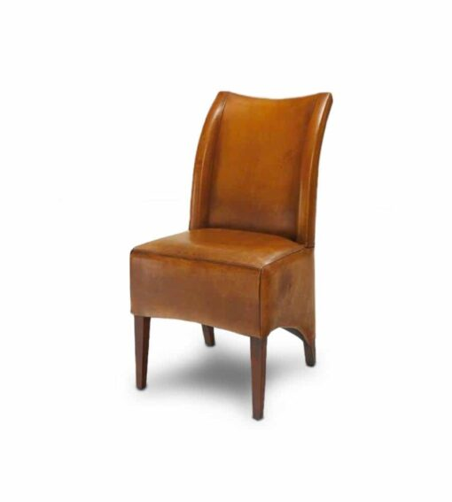 Stuhl EARL - Lederstuhl mit hoher Rückenpartie im Vintage-Stil bezogen mit qualitativ hochstehendem Büffelleder. Gestell aus Eiche. 8 Farbvariationen.