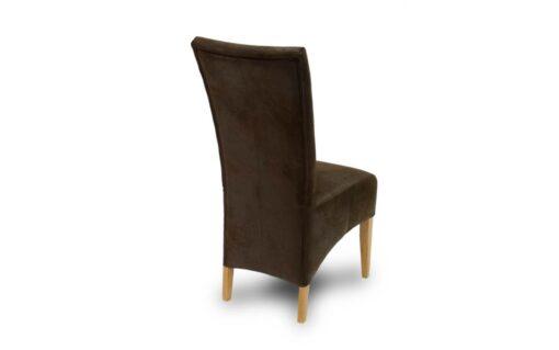 Stuhl RICHARD - stilvoller Hochlehner Stuhl aus Kunstleder. Ansicht von hinten.