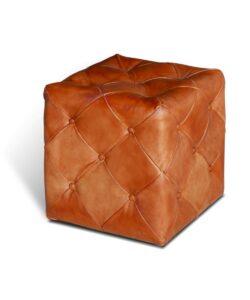 Chesterfield Lederhocker Cubic
