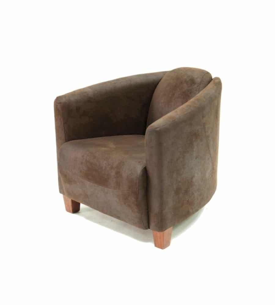clubsessel mumbai vintage sessel aus wildlederimitat. Black Bedroom Furniture Sets. Home Design Ideas
