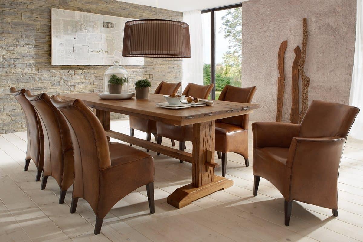 Esstisch THOR - massiver Holztisch aus Wildeiche. Detail Aufnahme 2