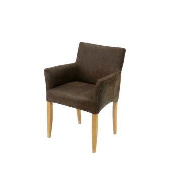 Stuhl CUBO - Armlehnstuhl aus Kunstleder