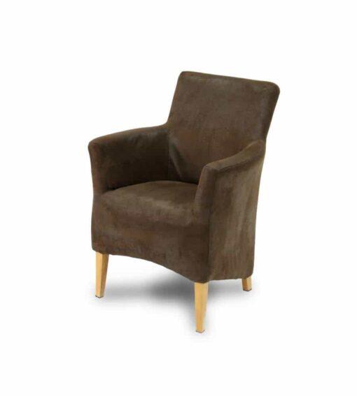 Stuhl Hemingway - herrschaftlicher Armlehnenstuhl im Vintage-Stil mit aus hochwertigem Kunstleder.Gestell aus Hartholz.