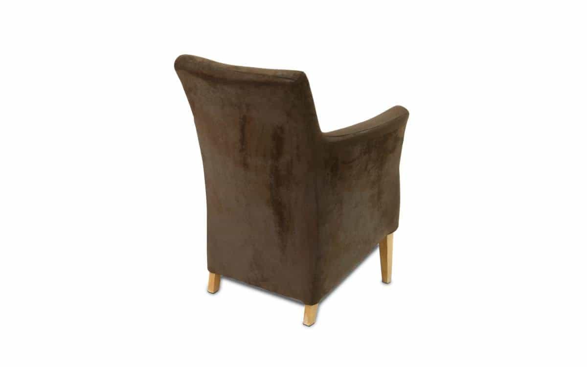 Stuhl Hemingway - Armlehnstuhl aus Kunstleder im Vintage-Stil. Ansicht von hinten