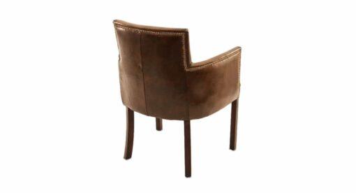 Stuhl Leonardo - Armlehnstuhl aus Leder im Vinatage-Stil, Ansicht von hinten