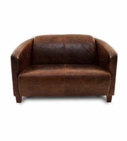Clubsofa Chicago - 2-Sitzer Vintage Ledersofa (Loveseat)