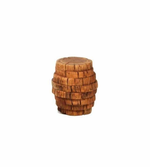 Hocker FALDA - schöner Alpenchic Hocker der aus verschieden grossen Baumabschnitten aus Sumpfeiche zusammengesetzt wird.
