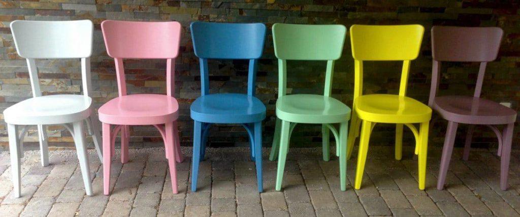 Stuhl Bistrolino in 6 veschiedenen RAL Farben