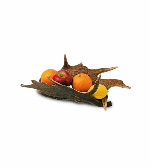 Fruchtschale Crescent, Obstschale aus Hirschgeweih vom Damhirsch