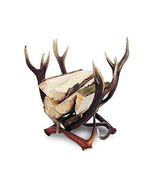 Holzkorb Diana aus Geweihstangen vom Rothirsch