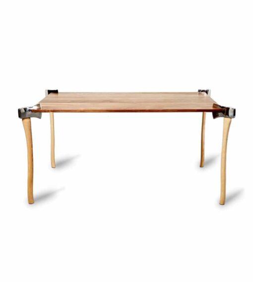 Esstisch Woodsman Axe Table - Design Holztisch in Walnuss mit gerader Kante