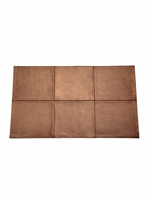 von Herzen - Badteppich aus bestem Rindnappaleder wasserunempfindlich rutschfest Farbe: Braungold 100x60 cm
