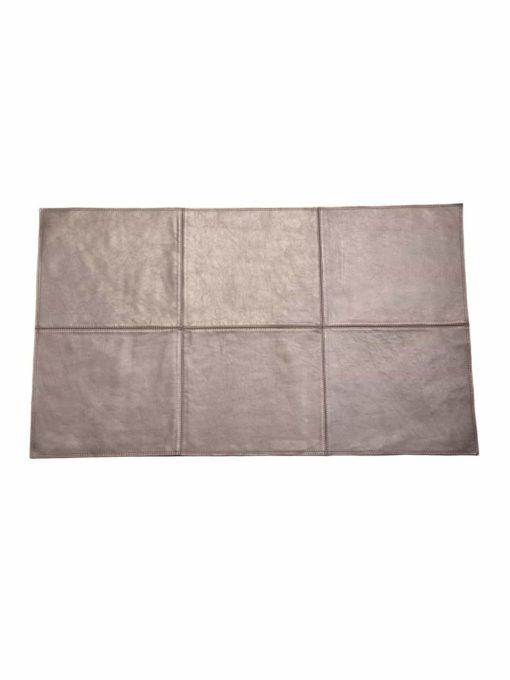 von Herzen - Badteppich aus bestem Rindnappaleder wasserunempfindlich rutschfest Farbe: Silber 100x60 cm