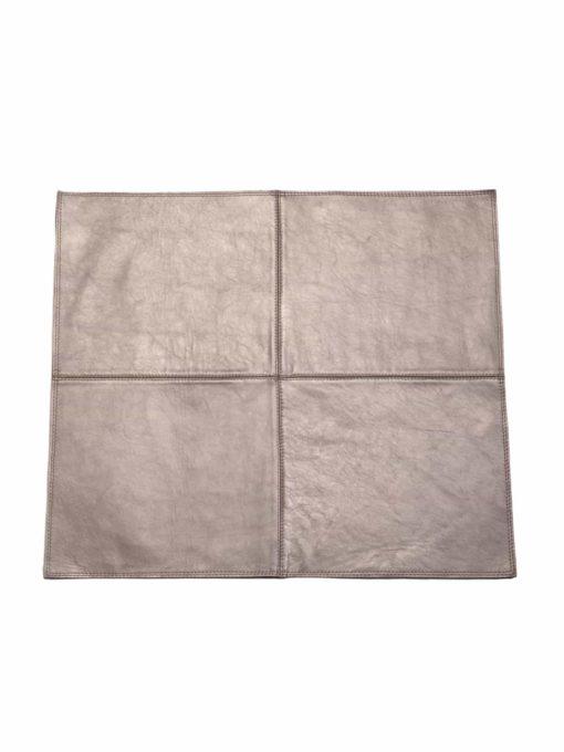 von Herzen - Badteppich aus bestem Rindnappaleder wasserunempfindlich rutschfest Farbe: Silber 70x60 cm