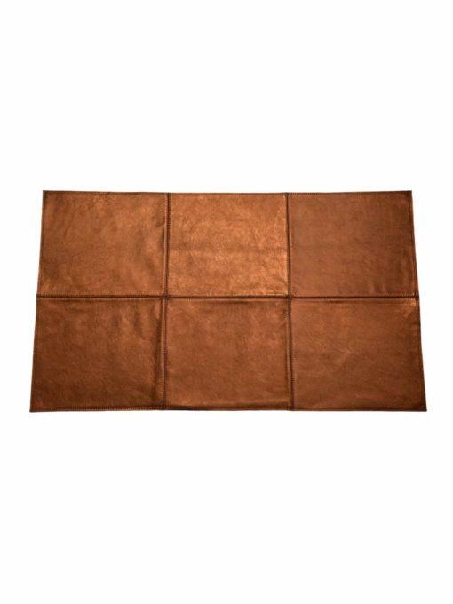 von Herzen - Badteppich aus Rindnappaleder wasserunempfindlich rutschfest Farbe: Kupfer 100x60 cm