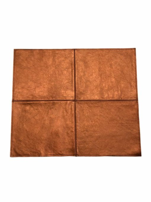 von Herzen - Badteppich aus Rindnappaleder wasserunempfindlich rutschfest Farbe: Kupfer 70x60 cm