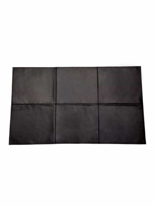 Badteppich aus bestem Rindnappaleder, wasserunempfindlich schwarz Grösse 100x60 cm- vHerzen BT08