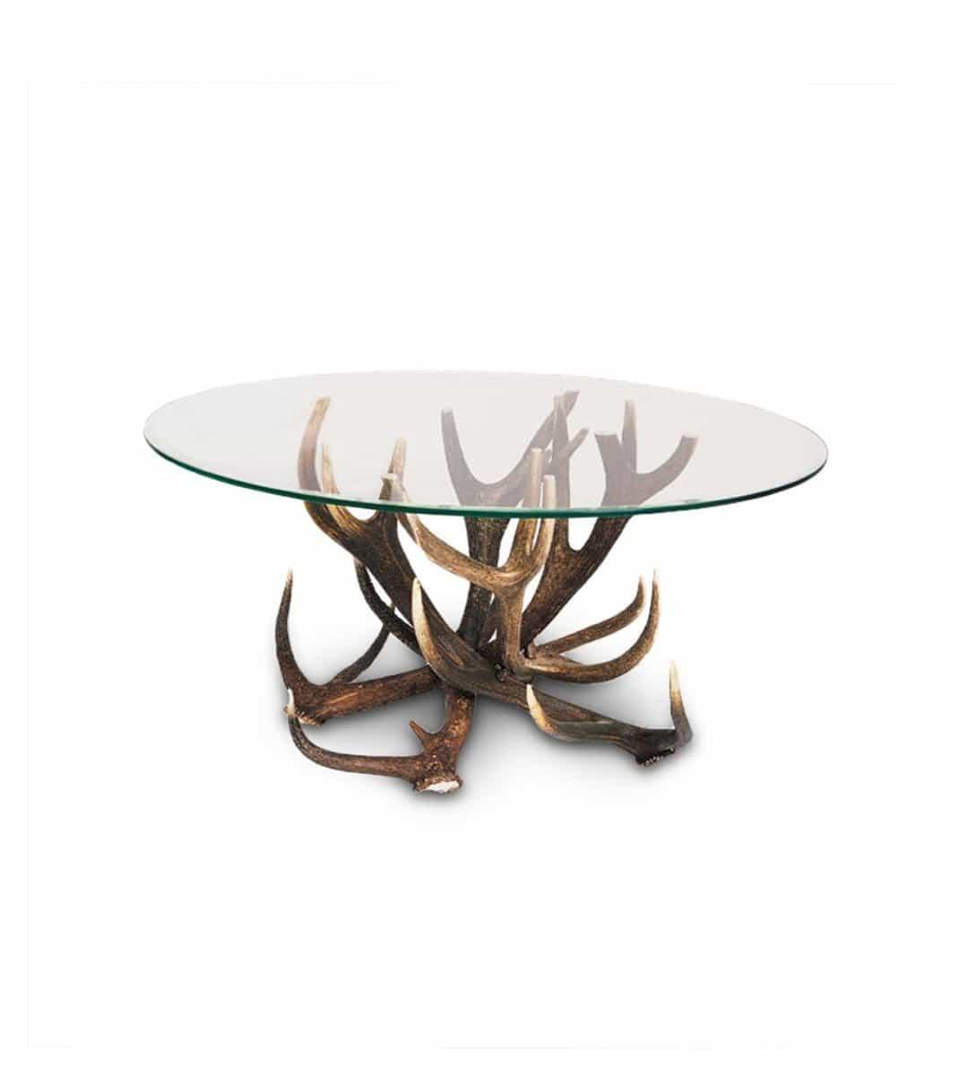 couchtisch auno ovaler salontisch aus geweih glas. Black Bedroom Furniture Sets. Home Design Ideas