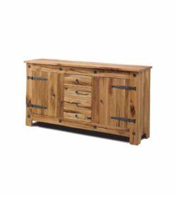 Massivholz Siedboard CHÂTEAU mit 2 Türen und 4 Schubladen