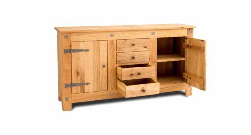 Massivholz Sideboard CHÂTEAU, 2-türig mit 4 Schubladen