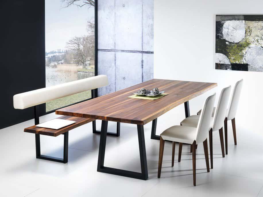Lüönd Wohncollection Tisch und Sitzbank AROGNO mit Stuhl NARO