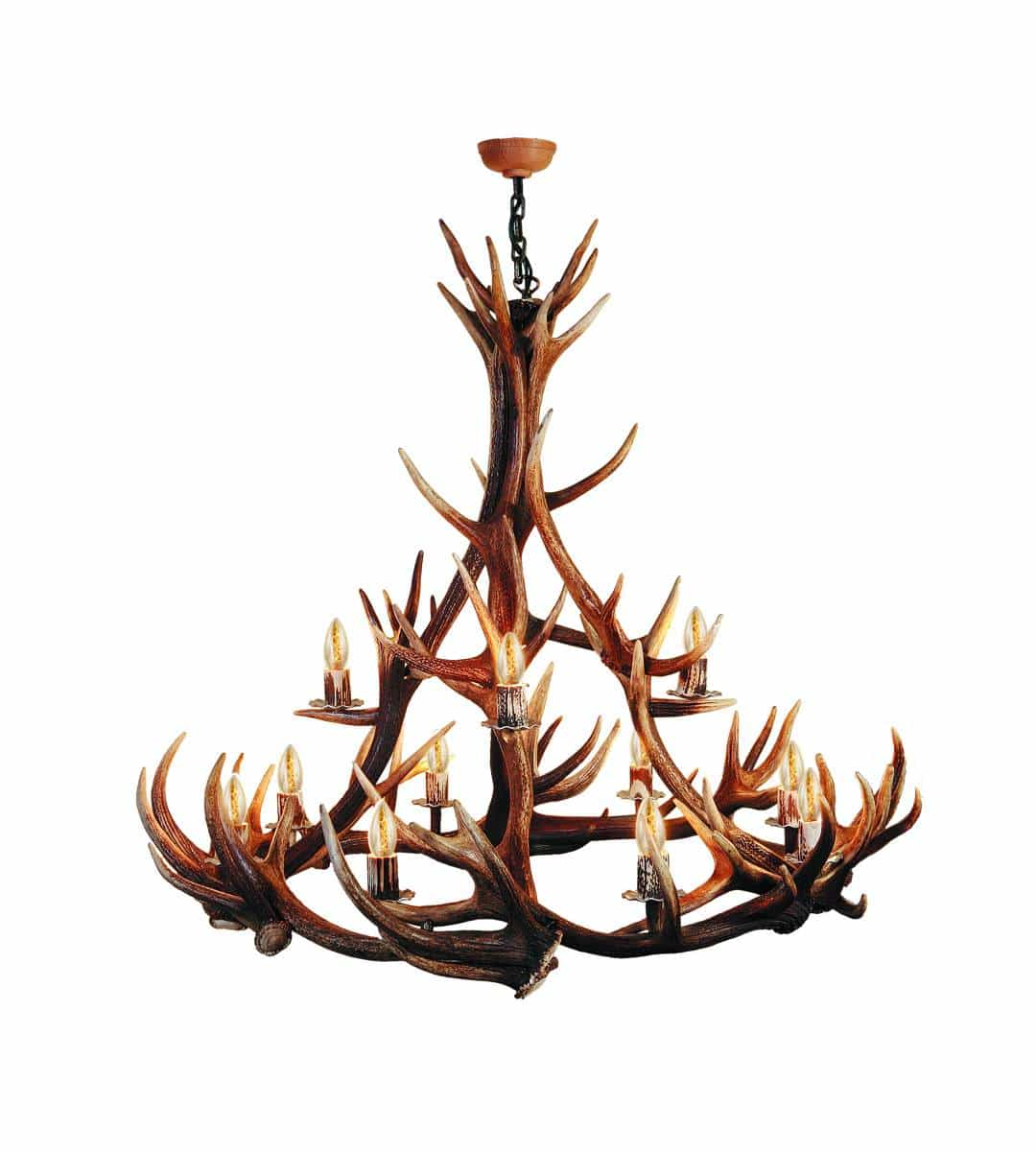 hallwyl 12 flammiger kronleuchter aus hirschgeweih. Black Bedroom Furniture Sets. Home Design Ideas