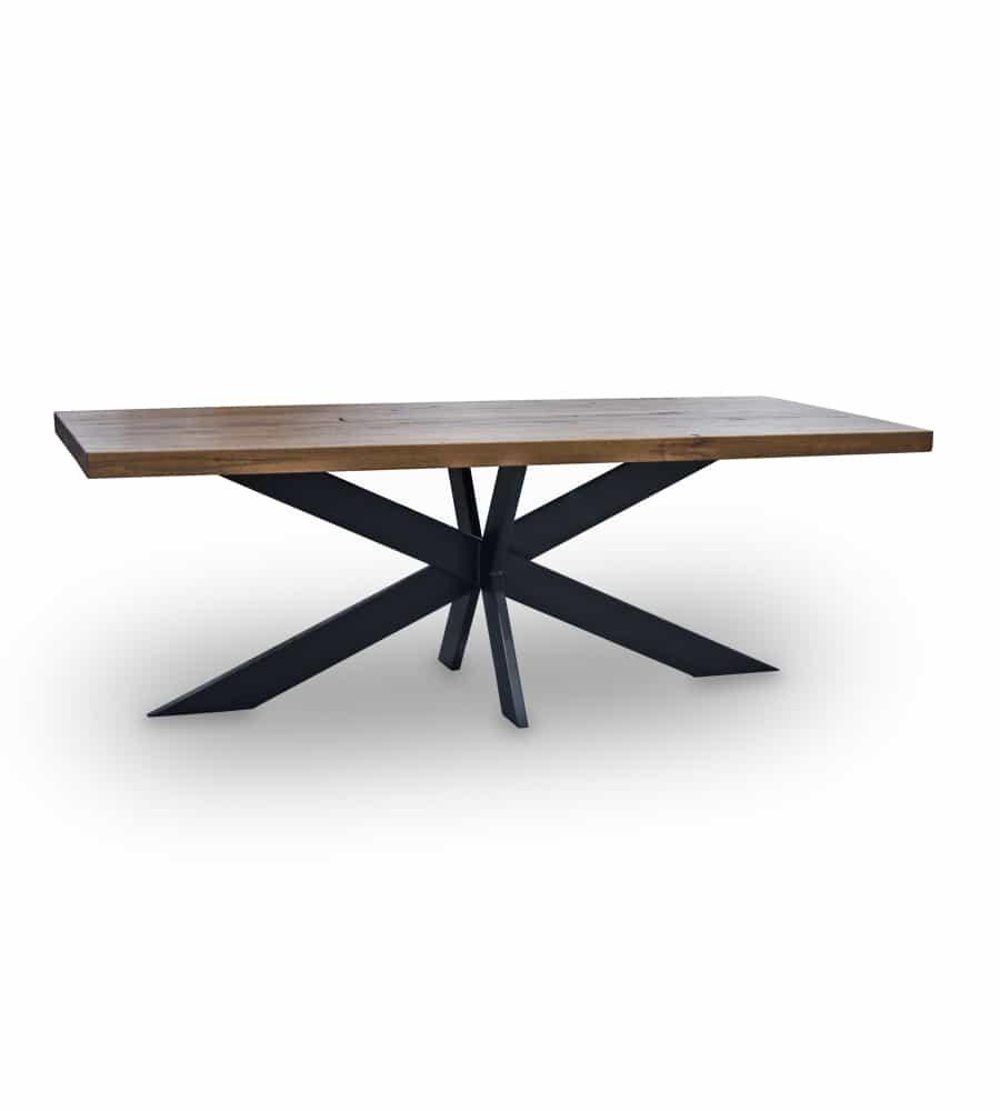 esstisch cross holztisch aus wildeiche und stahl. Black Bedroom Furniture Sets. Home Design Ideas