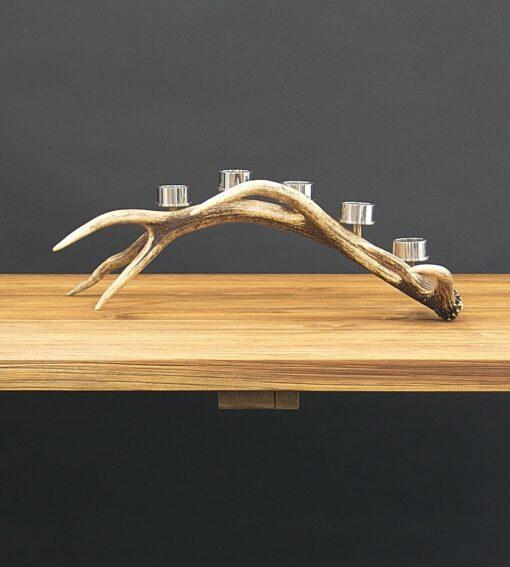 Teelichthalter Calanda aus Hirschgeweih - als Tischdekoration