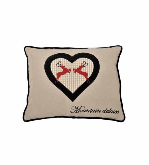 Alpenchic Kissen Mountain Deluxe aus 60 % Leinen und 40% Baumwolle schwarz