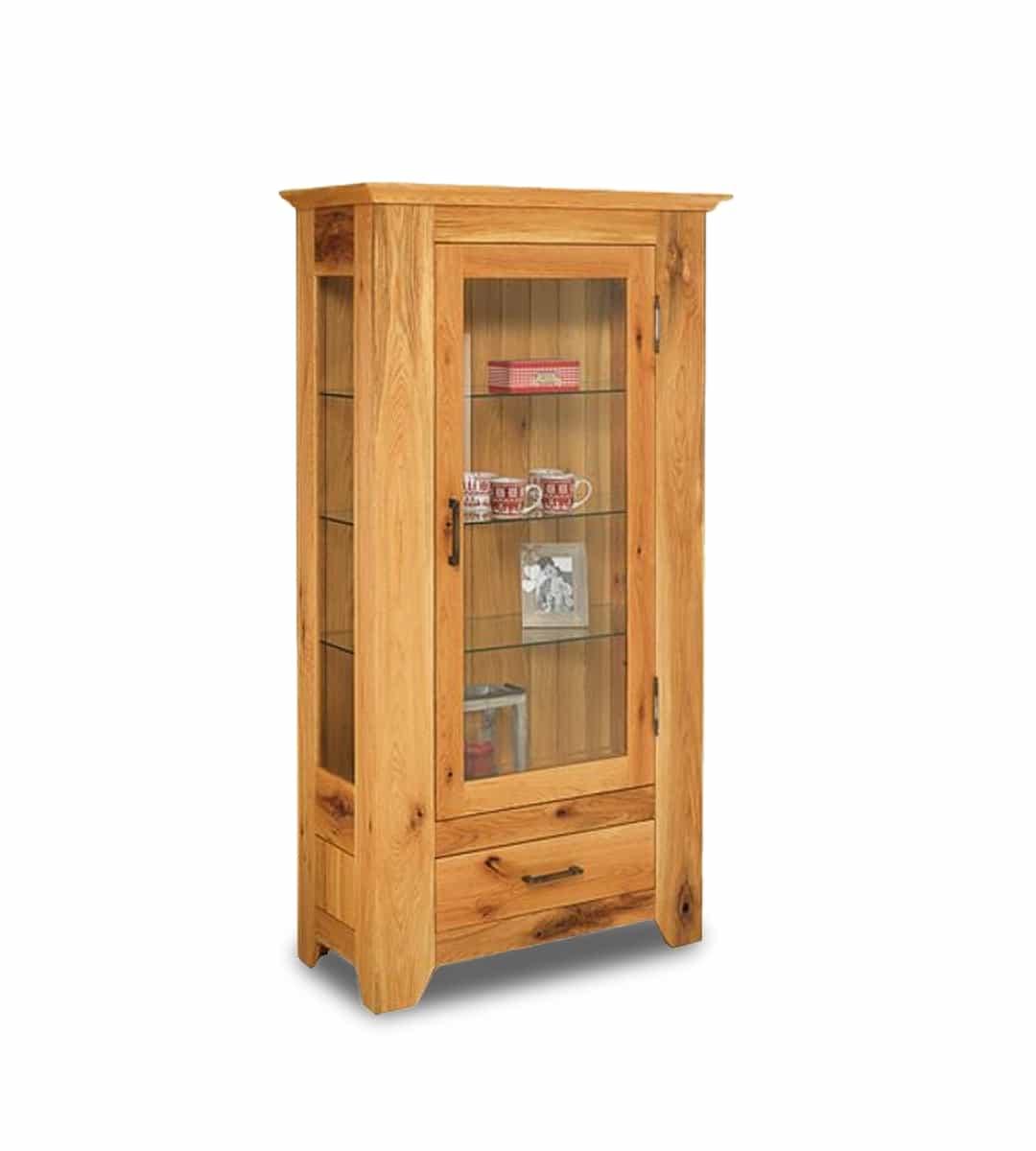 massivholz vitrine savoy in sumpfeiche oder wildeiche. Black Bedroom Furniture Sets. Home Design Ideas
