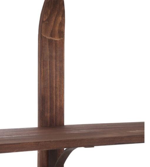 Alpenchic Regal Ski aus Holz mit 5 Böden Deatilansicht Tablar