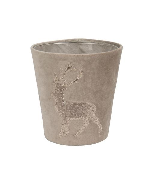 Kerzenhülle Funky Deer für Scented Candles von Fine in Beige