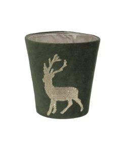 Kerzenhülle Funky Deer für Scented Candles von Fine in grün