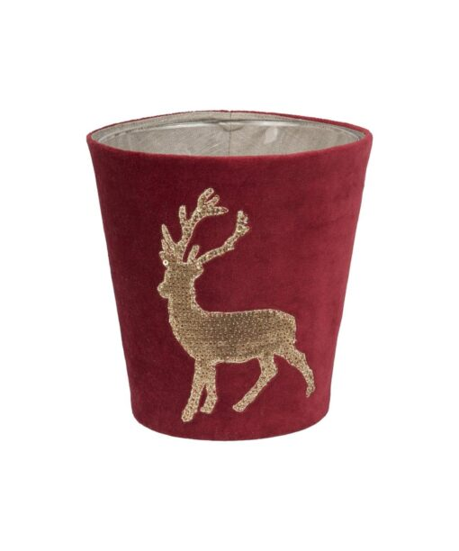 Kerzenhülle Funky Deer für Scented Candles von Fine in rot