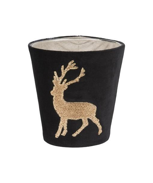 Kerzenhülle Funky Deer für Scented Candles von Fine in schwarz