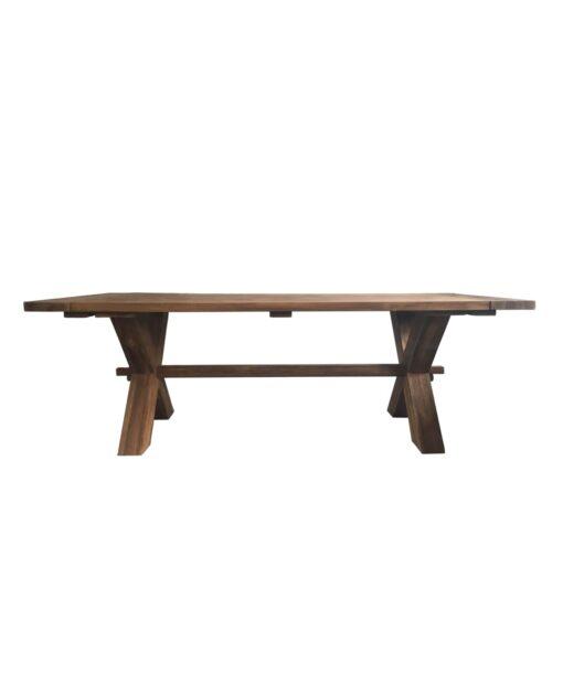 Massivholz Tisch Kentucky aus gebürsteten Teakholz