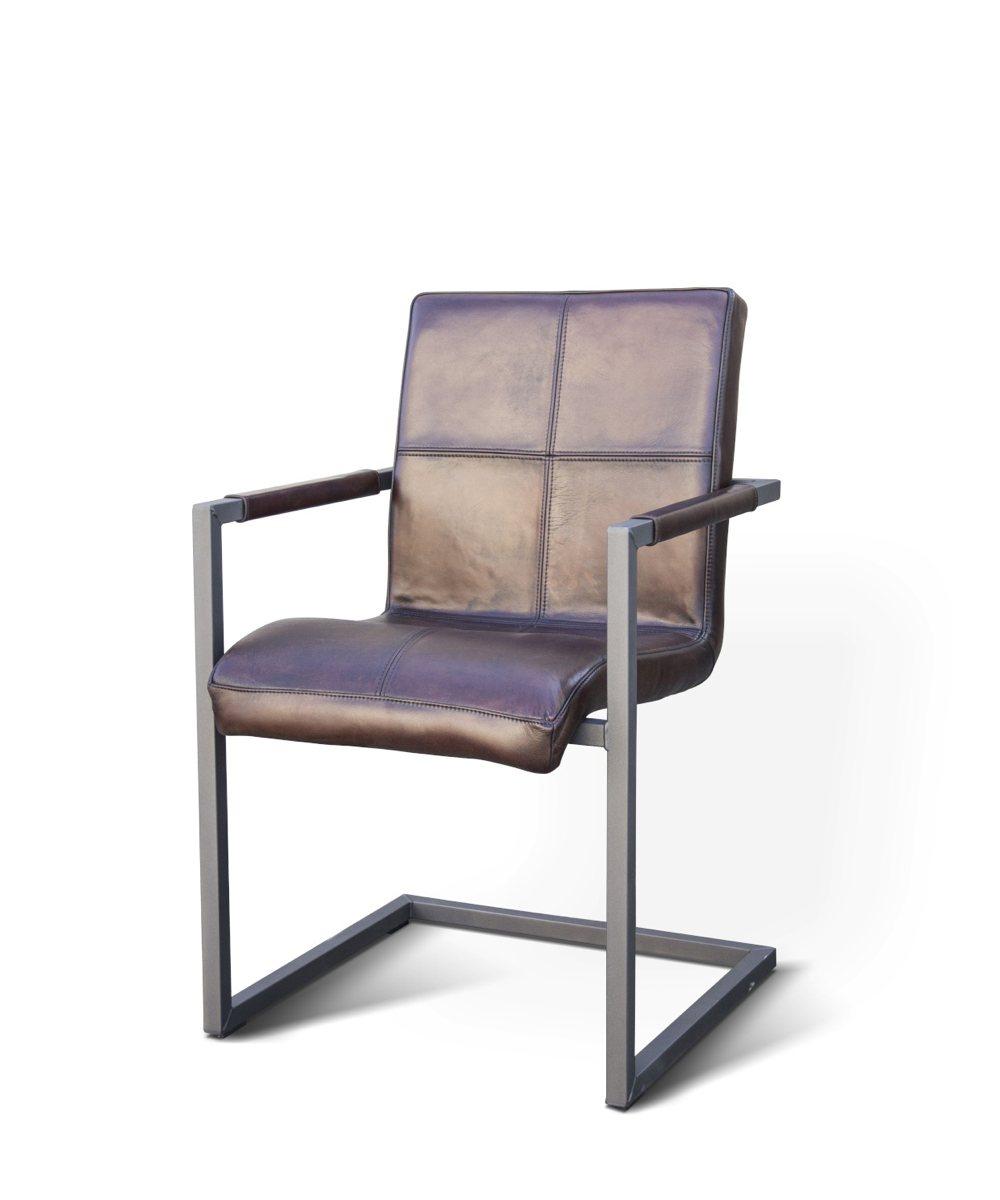 Brilliant Büffelleder Stuhl Sammlung Von Freischwinger Quadro Aus Vintage Büffelleder Und Stahl