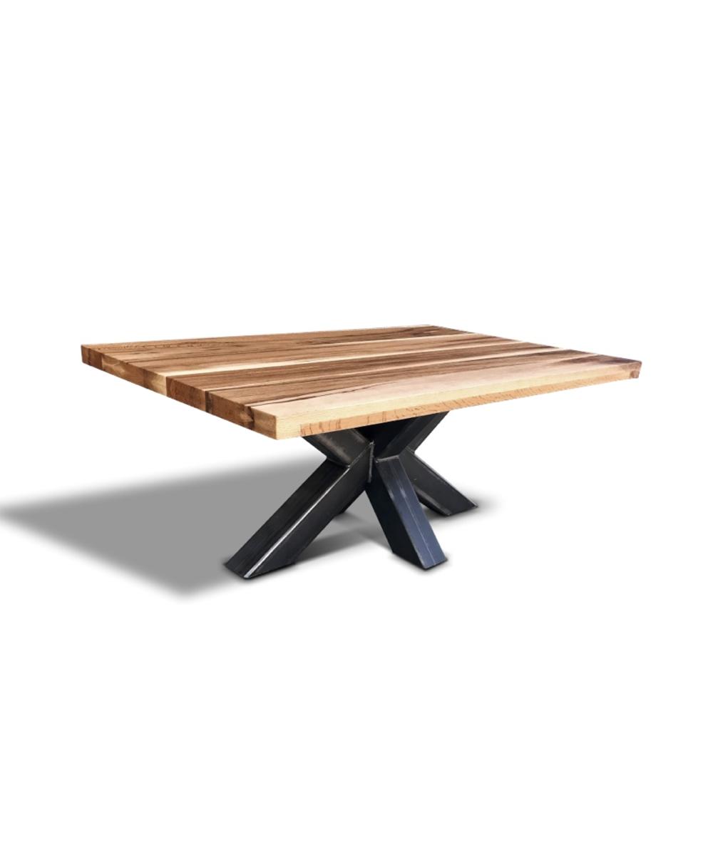 couchtisch spider industrial style wildeiche und stahl. Black Bedroom Furniture Sets. Home Design Ideas