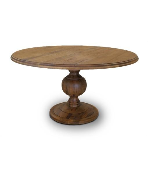Esstisch Clair, runder Holztisch aus massiver Wildeiche im Durchmesser von 140cm