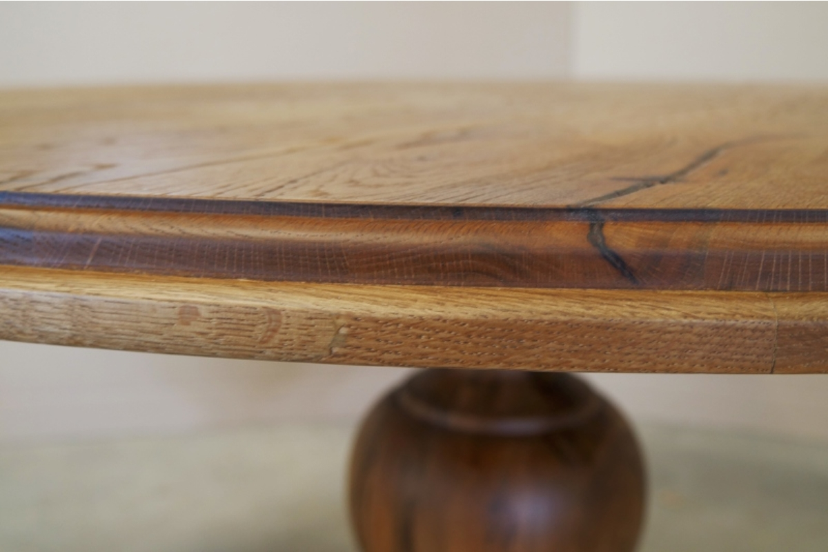 Esstisch Clair, Detailaufnahme der Tischkante