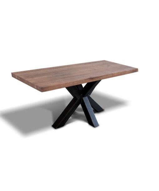 Esstisch Spider - Industrial Tisch aus Stahl und Wildeiche