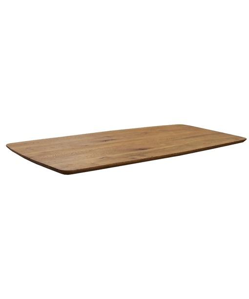 Tischplatte CHALET - Massivholzplatte aus Wildeiche rustikal 3 cm mit Schweizer Kante