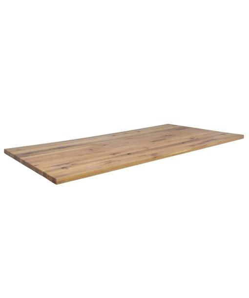 Tischplatte TOKYO - Massivholzplatte aus Wildeiche rustikal 6 cm